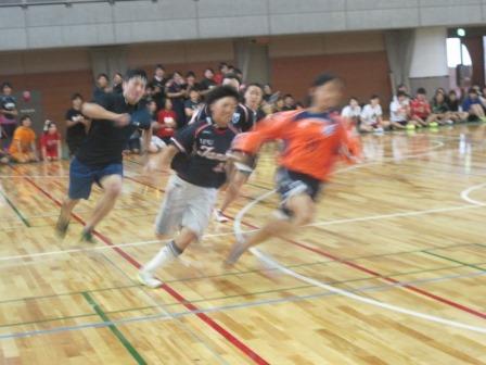 体育会学生の走りは圧巻です。