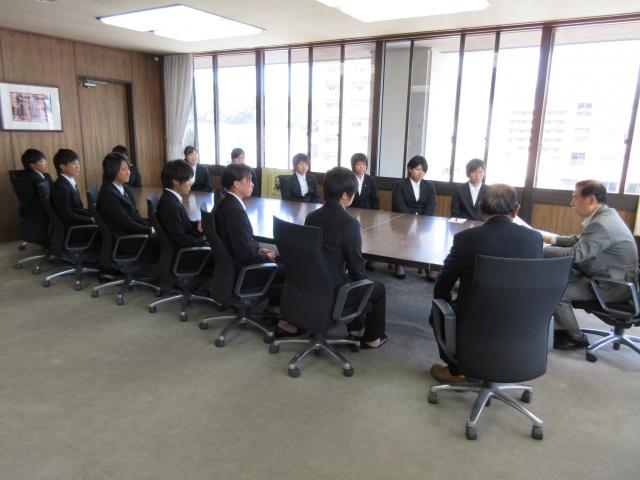 宇和島市長からお祝いの言葉をいただいた後、色々なお話をさせていただきました。