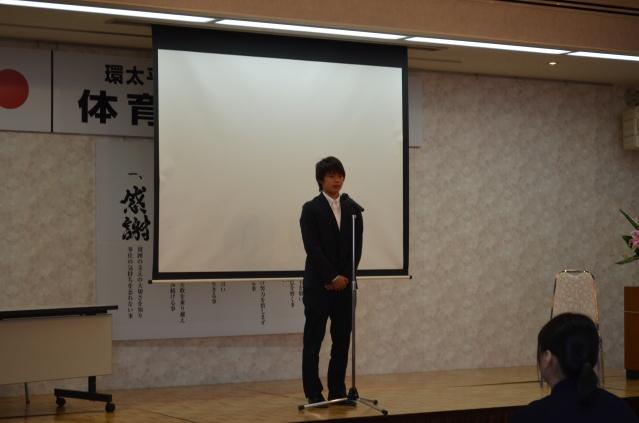 サッカー日本代表 上野真実選手より受賞挨拶がありました。